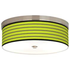 Bold Lime Green Stripe Giclee Energy Efficient Ceiling Light