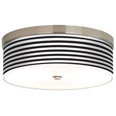 Black Horizontal Stripe Giclee Energy Efficient Ceiling Light