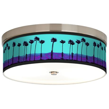 Palm Tree Haze Giclee Energy Efficient Ceiling Light