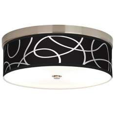 Abstract Giclee Energy Efficient Ceiling Light