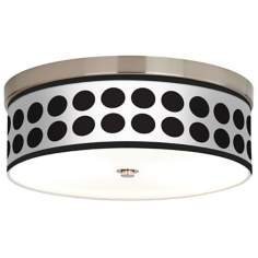Black Orbs Giclee Energy Efficient Ceiling Light