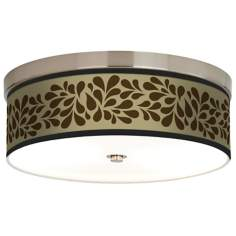 Brown Splash on Tan Giclee Energy Efficient Ceiling Light