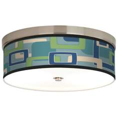 Retro Rectangles Giclee Energy Efficient Ceiling Light