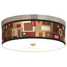 Earth Palette Giclee Energy Efficient Ceiling Light