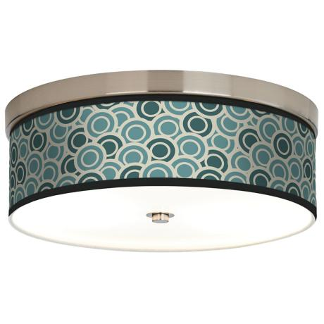 Blue and Green Circlets Giclee Energy Efficient Ceiling Light
