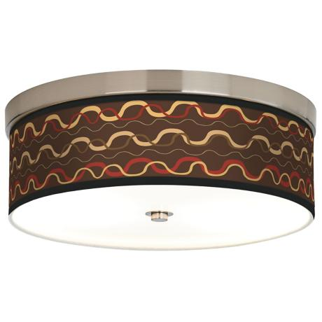 Wave Stitch Giclee Energy Efficient Ceiling Light