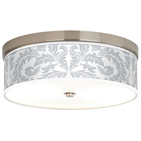 Silver Baroque Giclee Energy Efficient Ceiling Light