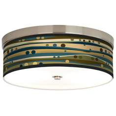 Dots & Waves Giclee Energy Efficient Ceiling Light