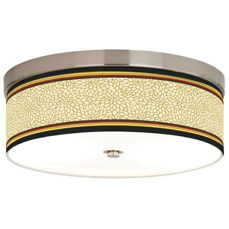 Stacy Garcia Spice Dahlia Giclee Energy Efficient Ceiling Light