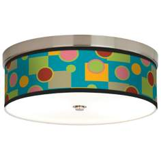Vibrant Retro Medley Giclee Energy Efficient Ceiling Light