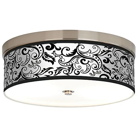 Regency Black Giclee Energy Efficient Ceiling Light