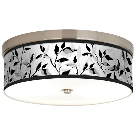 Three Tone Leaves Giclee Energy Efficient Ceiling Light