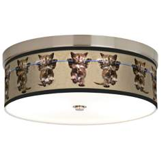 Cool Cat Giclee Energy Efficient Ceiling Light