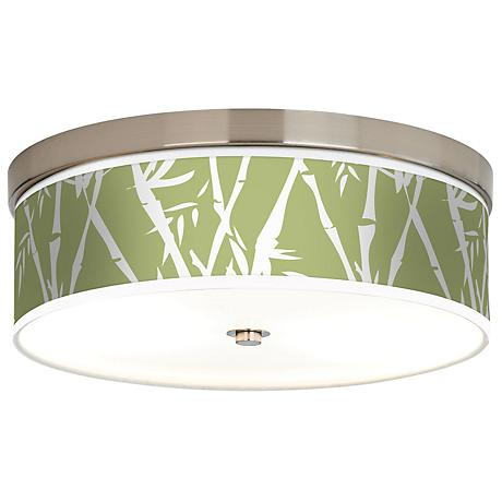 Lush Bamboo Giclee Energy Efficient Ceiling Light