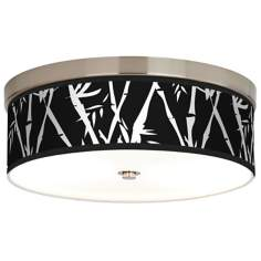 Night Bamboo Giclee Energy Efficient Ceiling Light