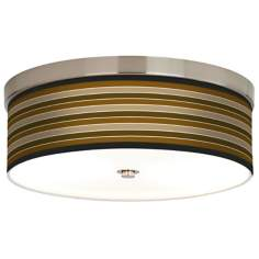 Sorrel Stripes Giclee Energy Efficient Ceiling Light