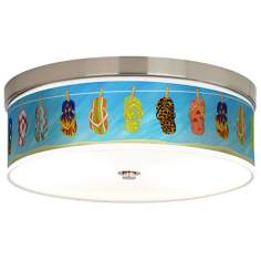 Summer Flip-Flops Giclee Energy Efficient Ceiling Light