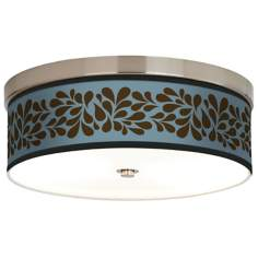 Brown Splash On Blue Energy Efficient Ceiling Light