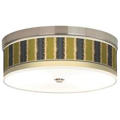 Lexington Stripe Avocado Energy Efficient Ceiling Light