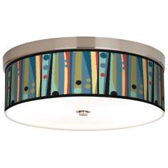 Pastel Dots Vertical Giclee Energy Efficient Ceiling Light