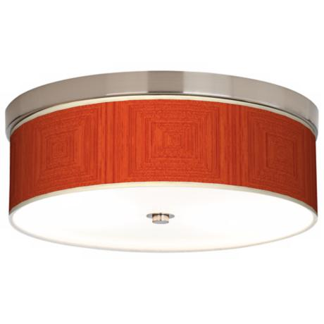 Stacy Garcia Crackled Square Coral Energy Efficient Ceiling Light