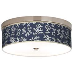 Prussian Coral Giclee Energy Efficient Ceiling Light