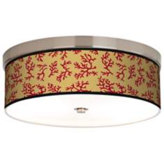 Crimson Coral Giclee Energy Efficient Ceiling Light