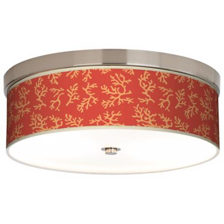 Tangerine Coral Giclee Energy Efficient Ceiling Light