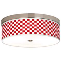 Checkered Red Giclee Energy Efficient Ceiling Light