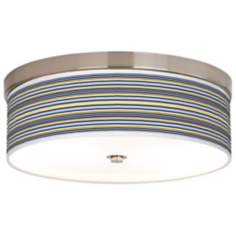 Charleston Stripes Giclee Energy Efficient Ceiling Light