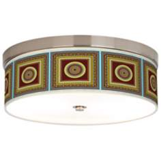"Stacy Garcia Tiber Medallion Garnet 14"" Wide Ceiling Light"