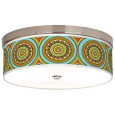 Stacy Garcia Arno Mosaic Daybreak Giclee Shade Ceiling Light