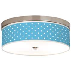 Mini Dots Aqua Giclee Energy Efficient Ceiling Light