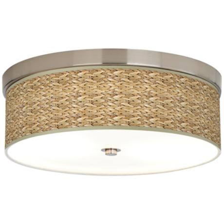 Seagrass Giclee Energy Efficient Ceiling Light