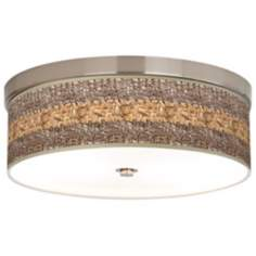 Woven Fundamentals Giclee Energy Efficient Ceiling Light