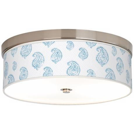 Paisley Snow Giclee Nickel Finish Energy Efficient Ceiling Light