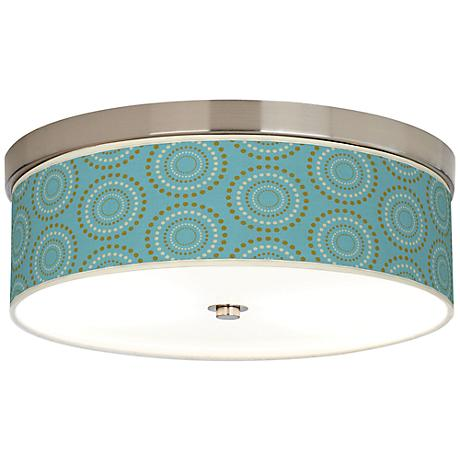 Blue Calliope Linen Giclee Energy Efficient Ceiling Light