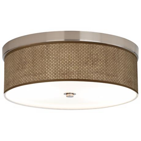 "Interweave Shade 14"" Wide Brushed Nickel Ceiling Light"