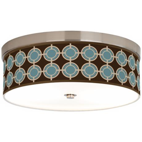 "Stacy Garcia Porthole Giclee14"" Wide Ceiling Light"