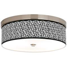 Greek Key Giclee Energy Efficient Ceiling Light