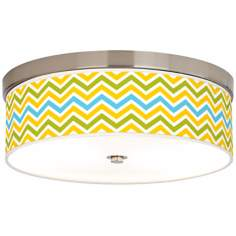 Citrus Zig Zag Giclee Energy Efficient Ceiling Light