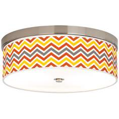 Flame Zig Zag Giclee Energy Efficient Ceiling Light