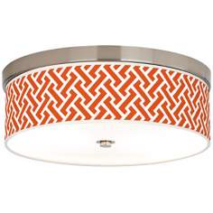 Red Brick Weave Giclee Energy Efficient Ceiling Light