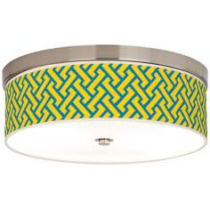 Yellow Brick Weave Giclee Energy Efficient Ceiling Light
