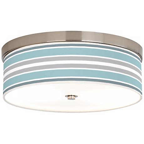 Multi Color Stripes Giclee Energy Efficient Ceiling Light