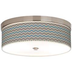 Zig Zag Giclee Energy Efficient Ceiling Light