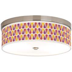 "Hinder 14"" Wide Giclee Energy Efficient Ceiling Light"