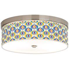 "Scatter 14"" Wide Giclee Energy Efficient Ceiling Light"