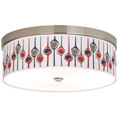 "Shutter 14"" Wide Giclee Energy Efficient Ceiling Light"
