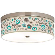 "Stammer 14"" Wide Giclee Energy Efficient Ceiling Light"